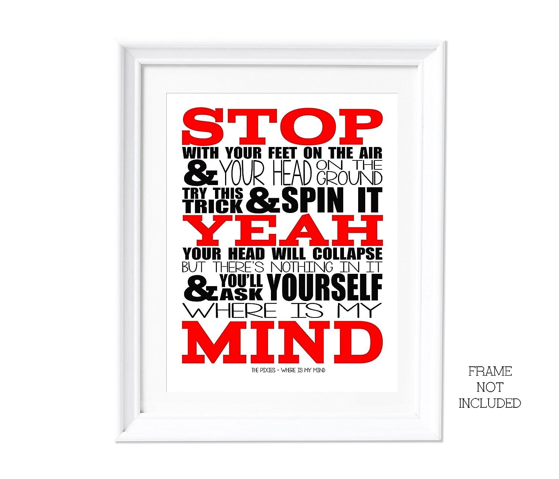 Perfect Pink Song Lyrics Typography Print Poster Artwork Home Art Decor