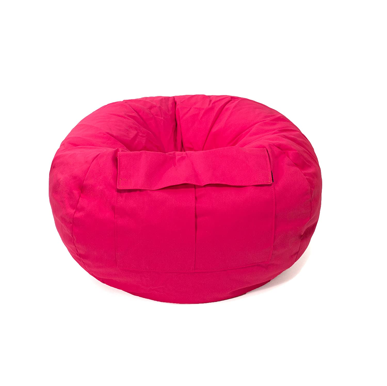 Pink bean bag chair - Amazon Com Gold Medal Bean Bags 31008484922 Small Denim Bean Bag With Pocket For Children Pink Baby