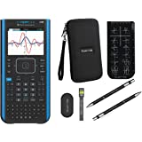 Texas Instruments Ti Nspire CX II CAS Graphing Calculator + Guerrilla Zipper Case + Essential Graphing Calculator Accessory Kit, Black (Blackk)