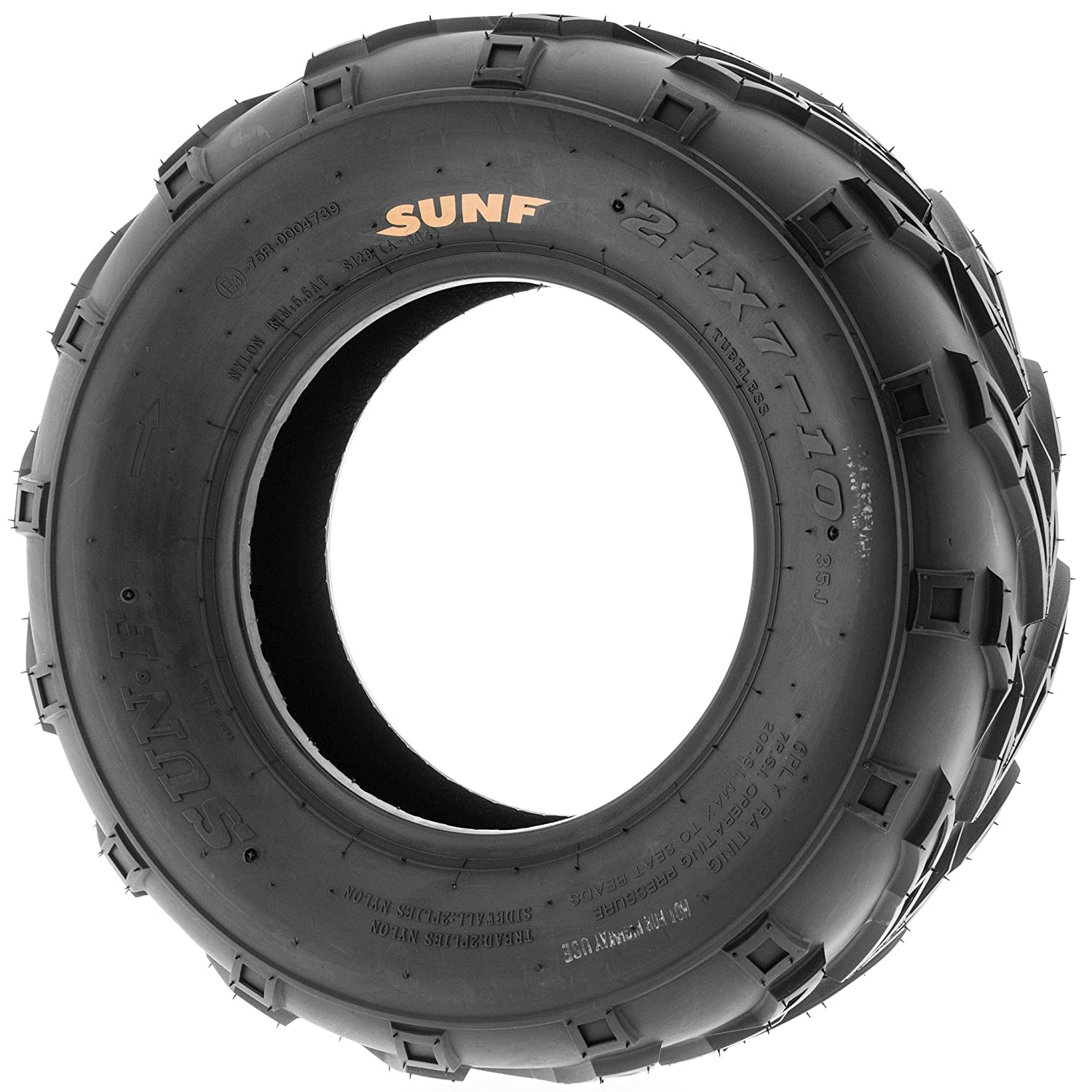 Trail /& Track 6 PR Pair of 2 SunF A004 ATV UTV 21x7-10 AT off-road Tires Tubeless