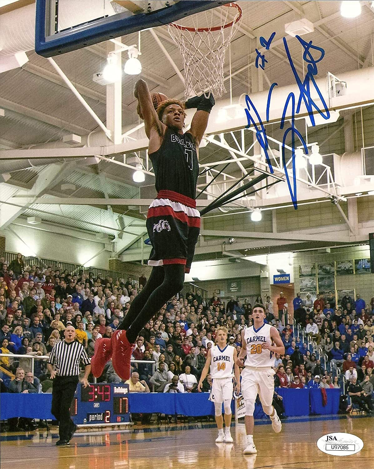 the latest b6faf 8fb07 Romeo Langford signed 8x10 Photo Indiana Hoosiers Basketball ...
