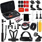 Luxebell Outdoor Sports Accessories Kit for Gopro Hero 5 Session Hero 4/3+/3+2 Sjcam Sj4000 Sj5000 Sj6000 DBPOWER 12MP/EX5000 14MP (30-in-1)