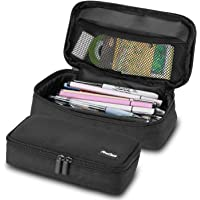 ProCase Pencil Bag Pen Case, Large Capacity Students Stationery Pouch Pencil Holder Desk Organizer with Double Zipper…