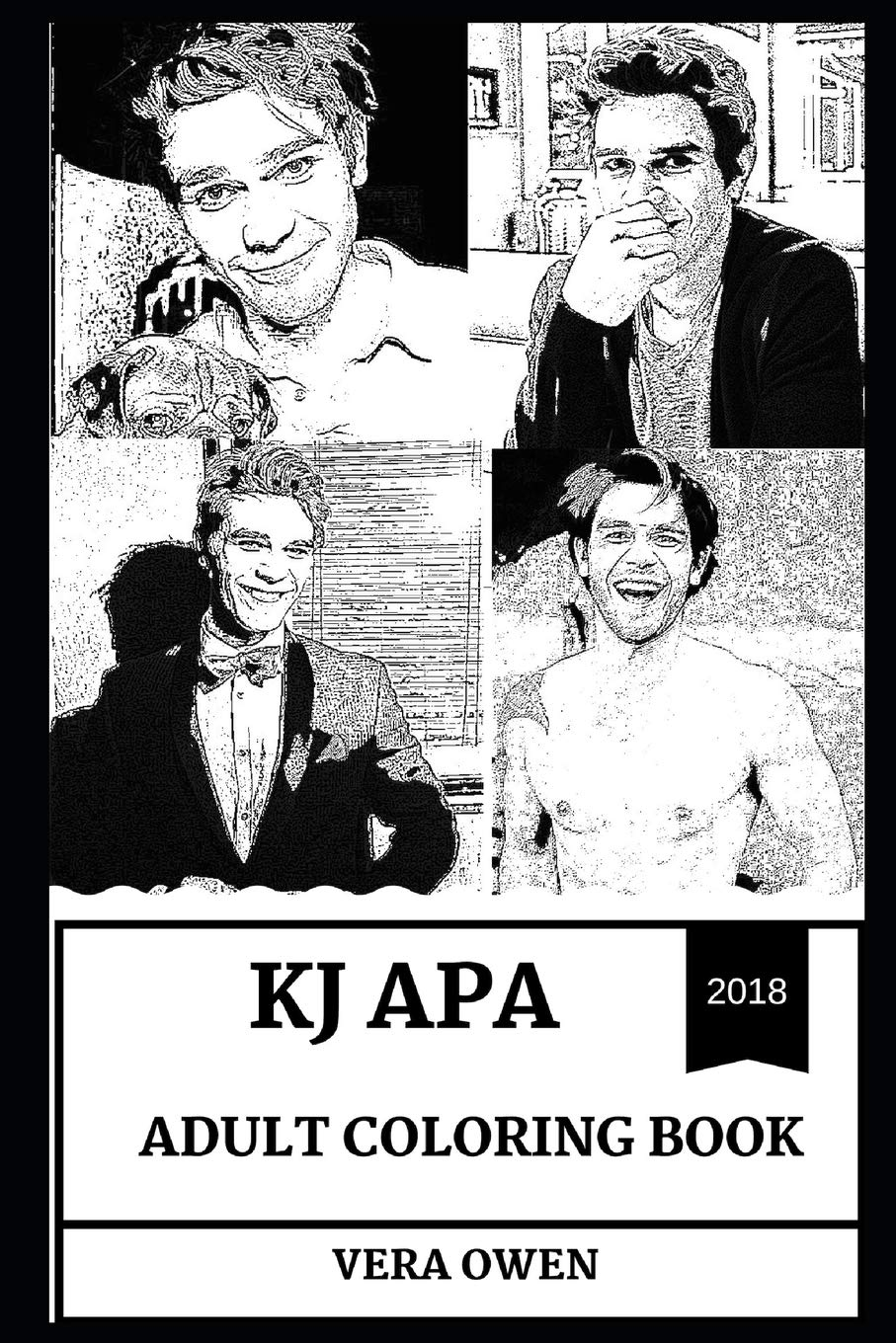 Kj Apa Adult Coloring Book Archie From Riverdale And Kane From