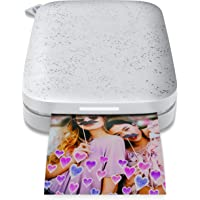 """HP Sprocket Portable 2x3"""" Instant Photo Printer (Luna Pearl) Print Pictures on Zink Sticky-Backed Paper from your iOS…"""
