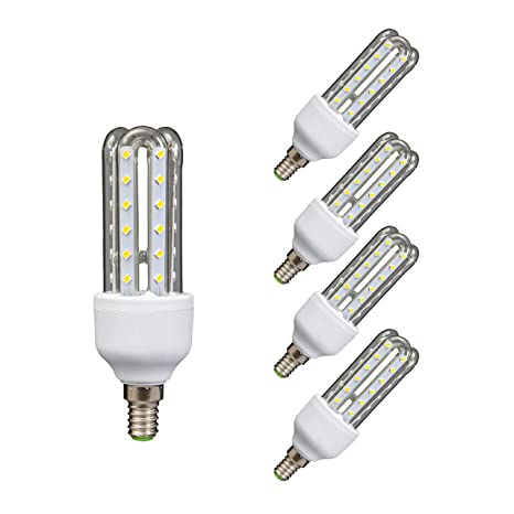 Lámpara Bombilla Led 3U Tubo E14 6400 K Luz Fría 9 W 40808