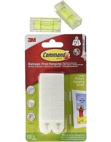 Command 17206 - 4 Pares de tiras adhesivas para colgar cuadros, con 2 niveles de