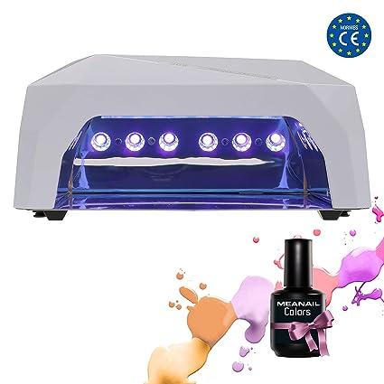 Lampara UV Led Secador Uñas con Temporizador Gel de Uñas Esmalte Semipermanente Permanente Uñas Acrilicas Postizas