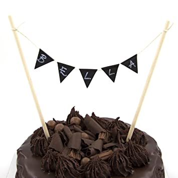 Cake bunting topper single row build it yourself personalised cake single row build it yourself personalised cake bunting kit with solutioingenieria Choice Image