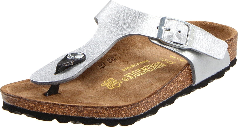 Birkenstock Gizeh, Zapatillas de Gimnasia Unisex Niños 31 M EU / 13-13.5 M US Little Kid|Plateado