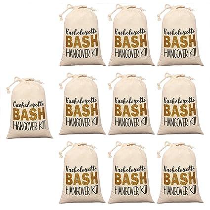 Amazon.com: 10 bolsas blancas de regalo para boda, fiesta ...