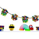 80s Party Decoration - Magic Cube Bunting - 160cm long