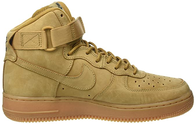 low priced 330df 6f372 Amazon.com   NIKE Air Force 1 high 07 LV8 Men s Shoes Flax Flax-Outdoor  Green 806403-200   Fashion Sneakers