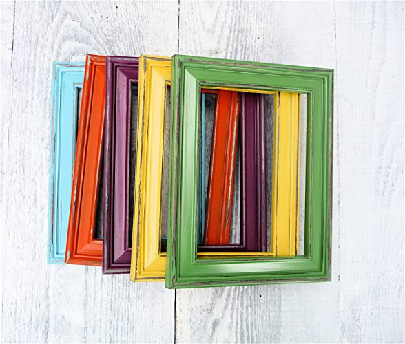 Amazon Rainbow 5 X 7 Frame Set Set Of 5 Picture Frames In