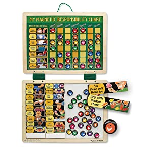 Melissa & Doug Magnetic Responsibility and Chore Chart (Developmental Toys, Encourages Good Behavior, 90 Pieces, Great Gift for Girls and Boys - Best for 3, 4, 5 Year Olds and Up)