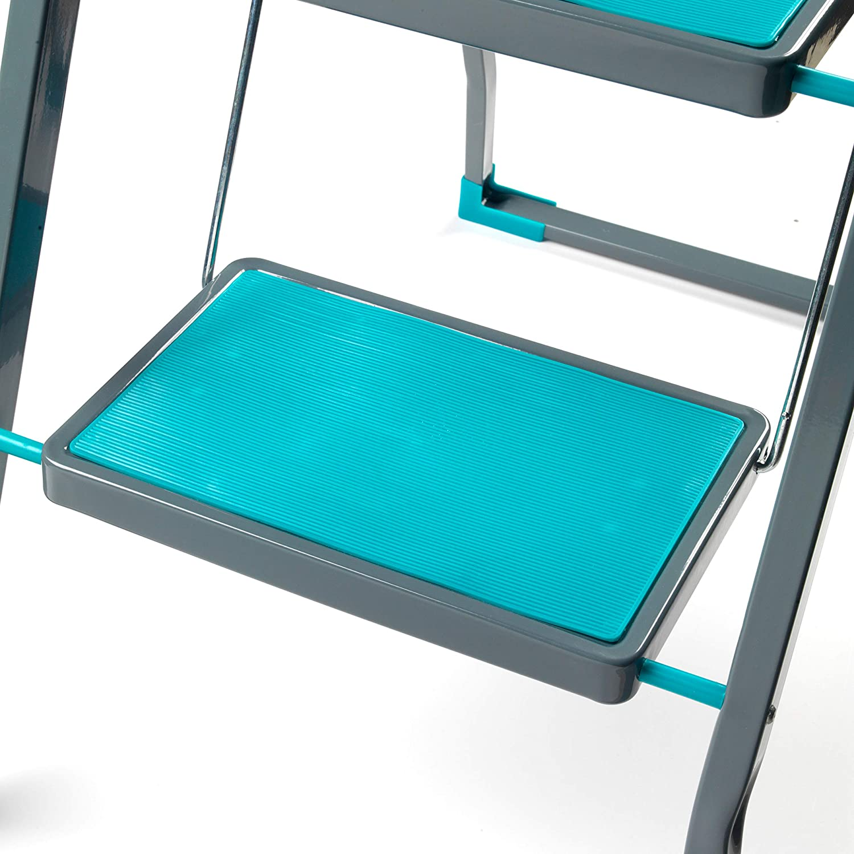 Turquoise Beldray COMBO-5209 3 Step DIY Hobby Stepladder Set of 2