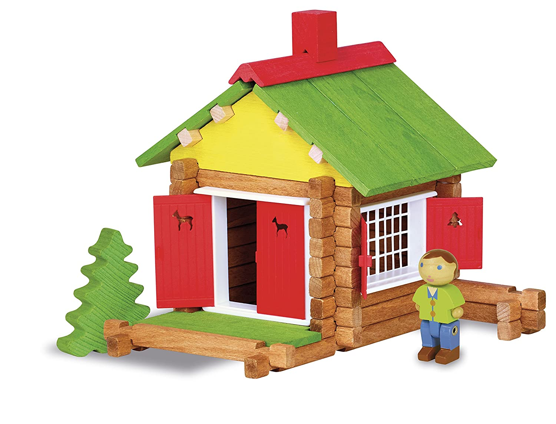 maison en bois - jouet jeujura