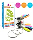 Measuring Cups and Spoons Set – Incl 5 Measuring Cups Stainless Steel 5 Spoons and Clips   Use with Wet or Dry Ingredients   Stackable Nesting Variety Pack   10 Piece Set