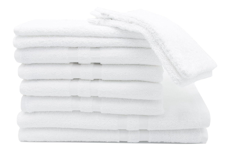 ZOLLNER Juego de Toallas de baño Compuesto por 10 Piezas, algodón, Blancas: Amazon.es: Hogar