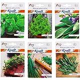 Kraft Seeds Herb Combo Basil (30 Seeds), Oregano (50 Seeds), Thyme (100 Seeds), Sage (50 Seeds), Rosemary (10 Seeds), Chives (20 Seeds)