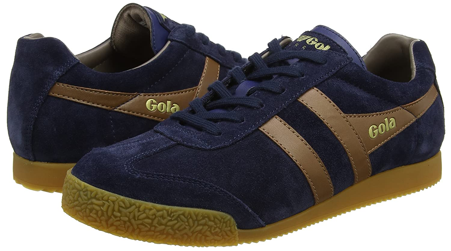 Gola Men's Harrier Fashion Sneaker B07235QZ56 9 D(M) US|Navy/Tobacco/Stone