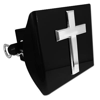 Elektroplate Cross Black Plastic Hitch Cover: Automotive