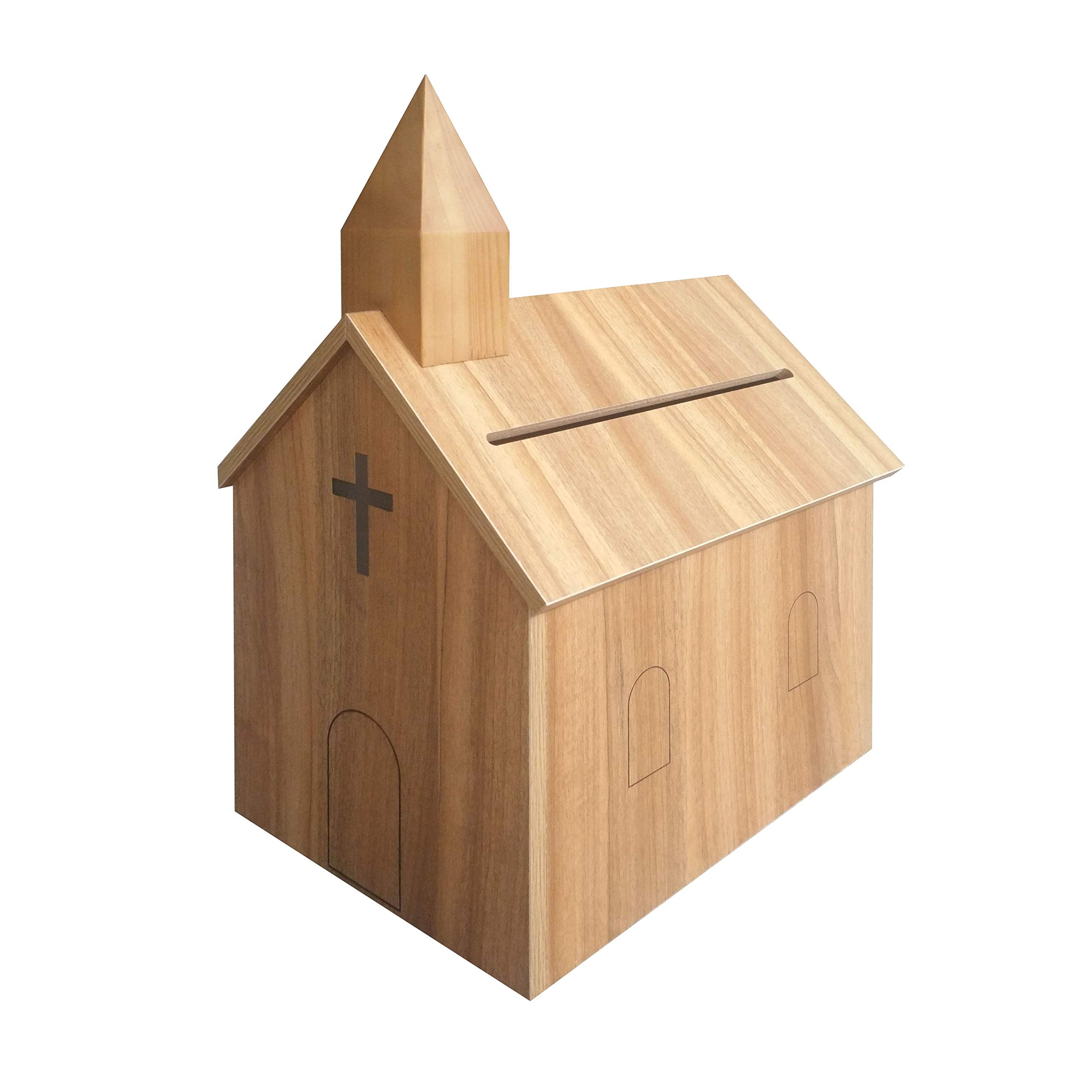 Fixture Displays Church Steeple Box Collection Box Tithing Donation Box Fundraising Charity Box 21397 by FixtureDisplays