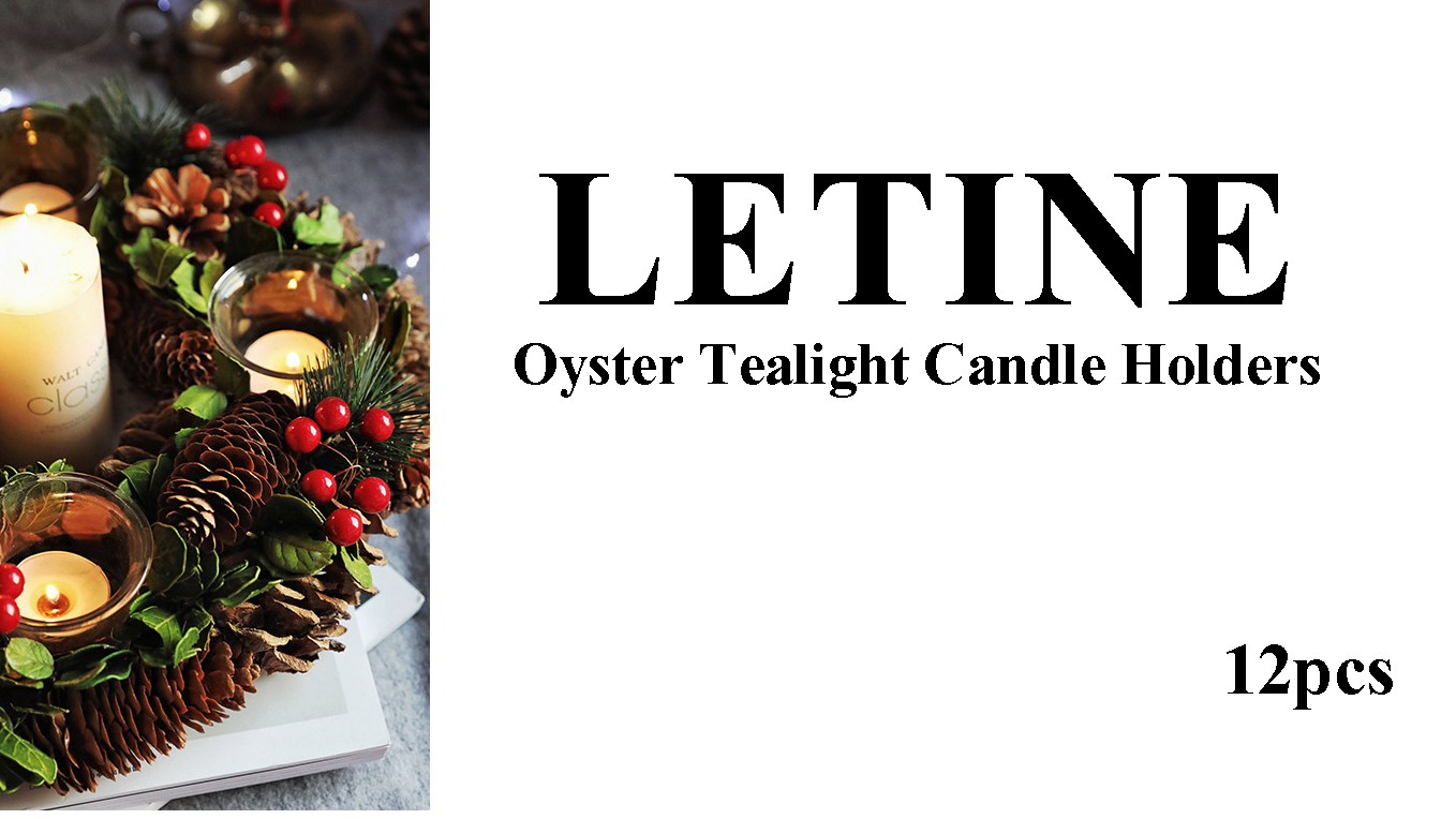 Letine Home Decor Candle Holders Set for Living Room & Bathroom Decor, Decorative Candle Holder Centerpieces for Dining… 7