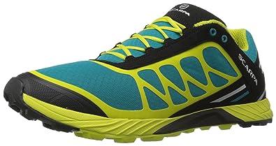 Scarpa Men's Atom Trail running Shoe Trail Runner, Abyss/Lime, 39.5 EU/