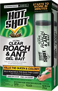 Hot Shot HG-95769 Ultra Clear Roach & Ant Gel Bait, 2.5-Ounce,Multicolor