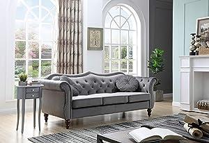 Glory Furniture Hollywood Sofas, Dark Gray