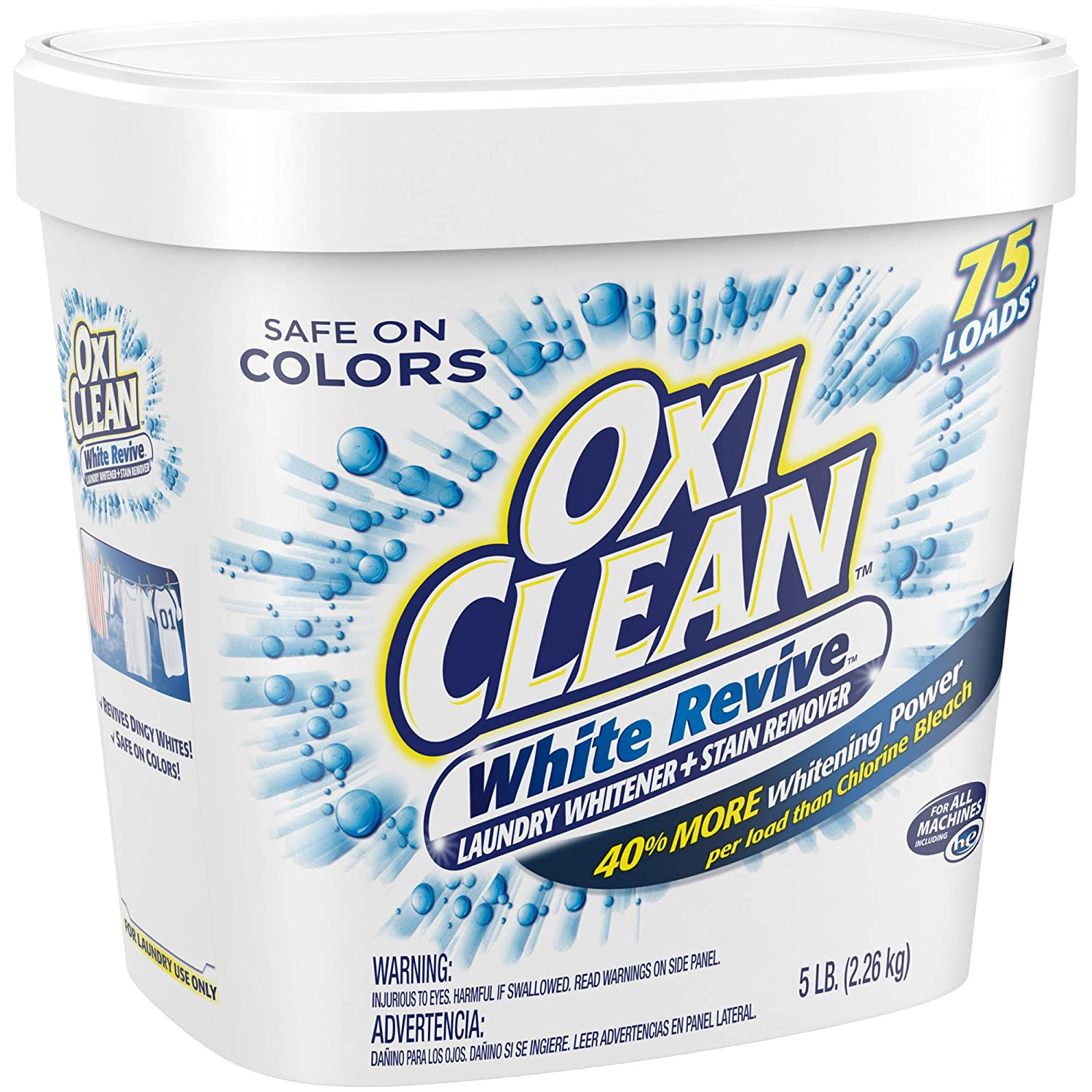 Oxiclean White Revive Laundry Whitener Stain Remover 5 Lbs