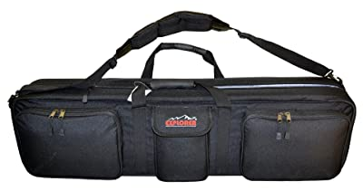 Explorer Hard Shell Heavy Duty Double Rifle Case Range Bag, Black, 38 x 10 x 5-Inch