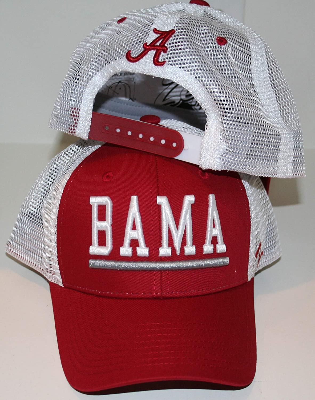 Campus Hats University of Alabama Crimson Tide Red//Crimson White Big Rig Upfront Bama Mesh Top Trucker Mens//Womens//Youth Limited Edition Snapback Adjustable Baseball Hat//Cap