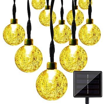 Solar String Lights, KEEDA 30 LED Crystal Ball Globe Fairy Patio Lights For  Outdoor Garden