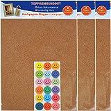 Korkpapier-Bögen nachhaltiges Naturmaterial beidseitig geschmeidig und leicht dennoch fest 6 Bögen a. 20 x 25 cm