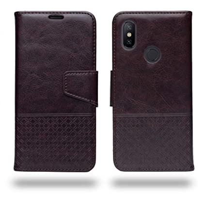 99a41d0dfb3 Ceego Luxuria Wallet Flip Case Cover for Xiaomi Mi A2 (Chestnut Brown)