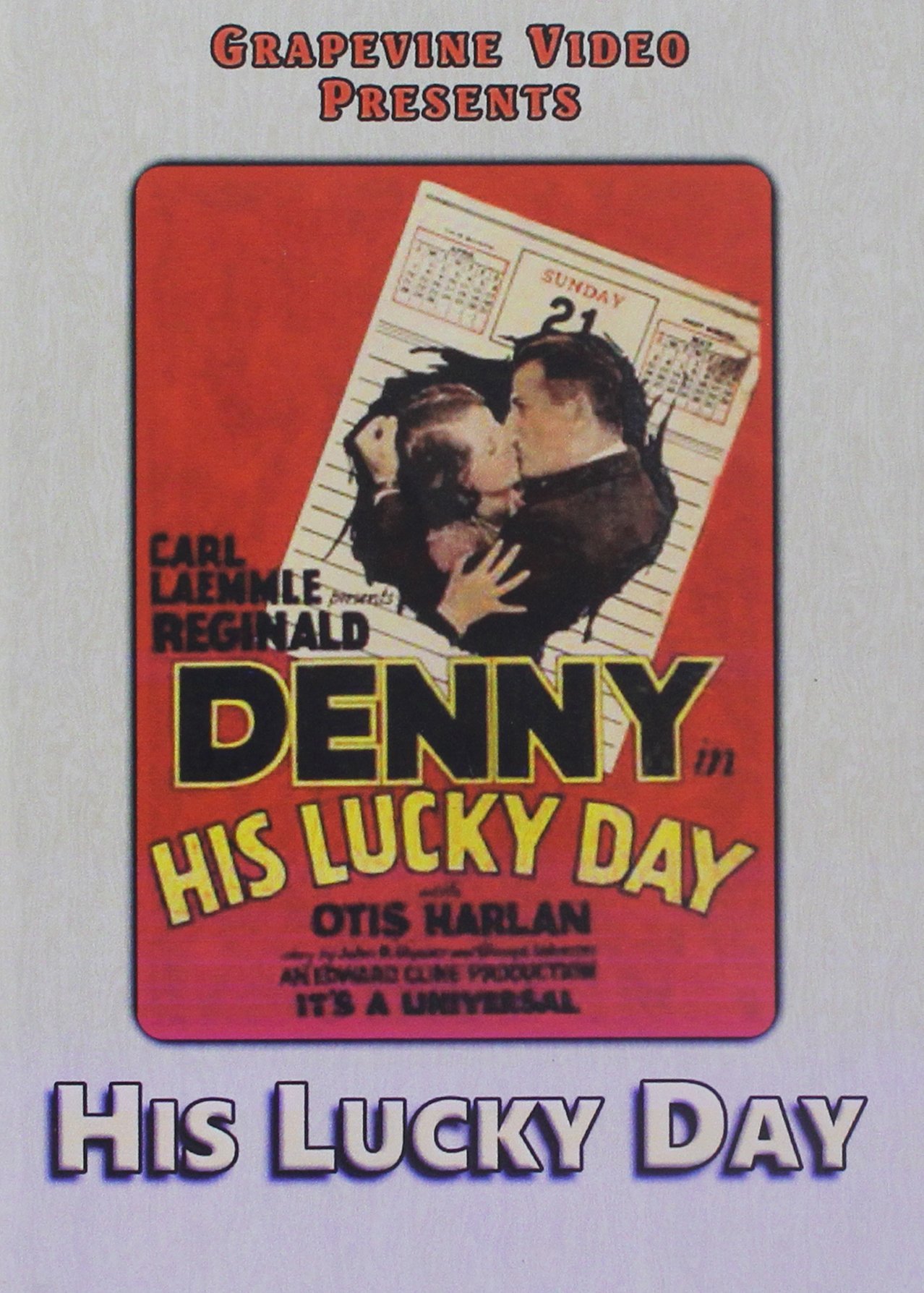 DVD : His Lucky Day (1929) (Silent Movie)