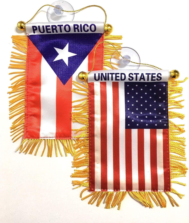 Bandera de Puerto Rico Americano, 2 unidades, bandera de Puerto ...