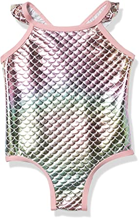 Pink Platinum Girls Little Baby Mermaid Bathing Suit