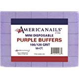 Americanails Mini Disposable Purple Nail Buffers - Nail Sanding & Smoothing Buffing Block Professional Manicure Tool - For Gl