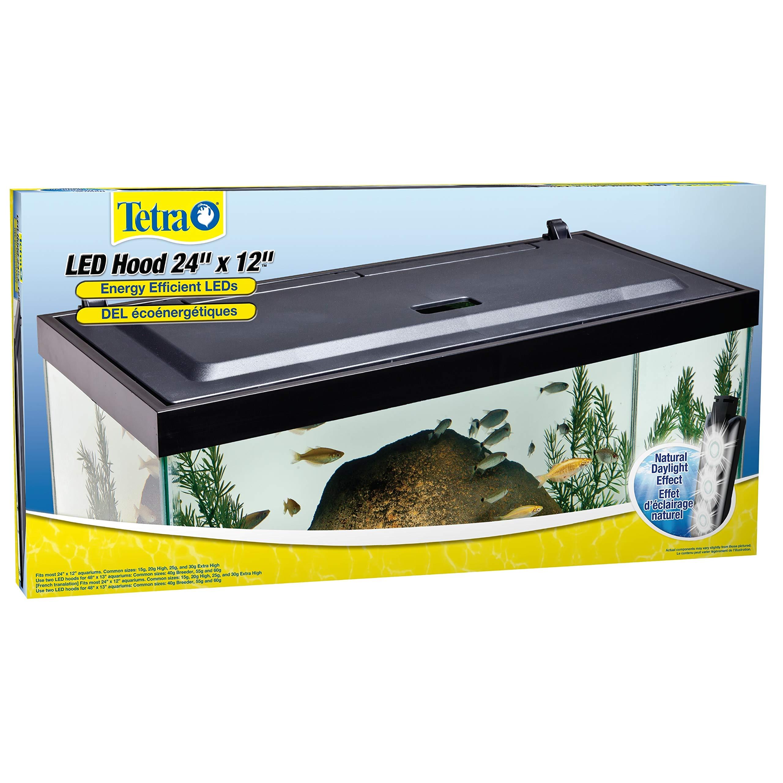 Tetra LED Aquarium Hood, Low Profile, Energy Efficient, 24 inch by Tetra