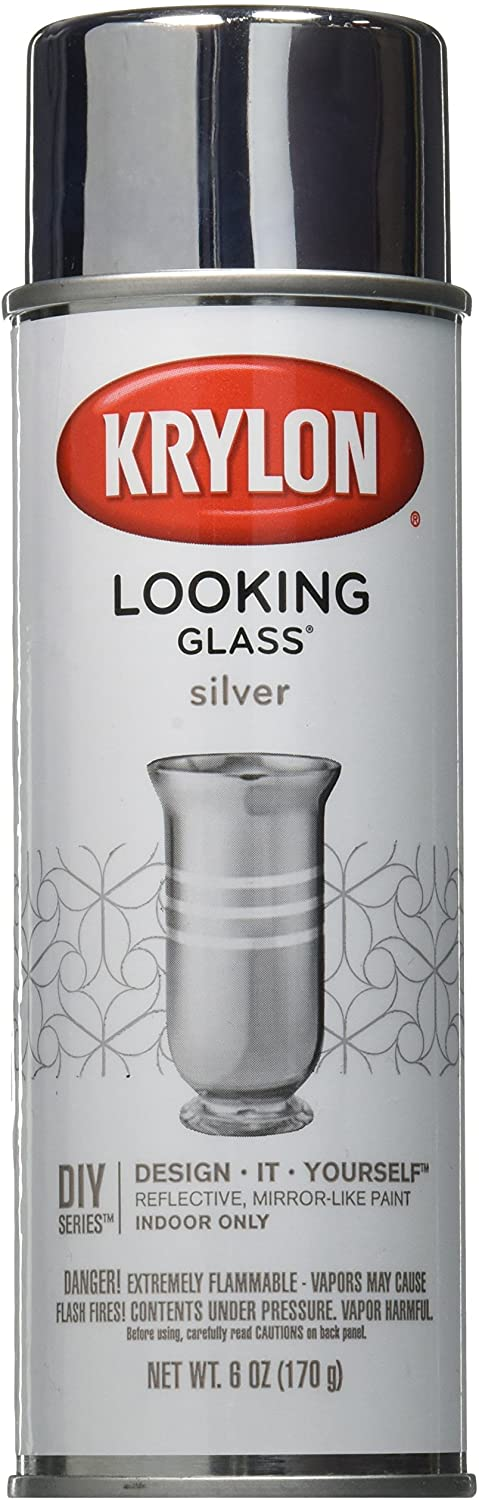 Krylon Looking Glass Silver-Like Aerosol Spray Paint 6 Oz.