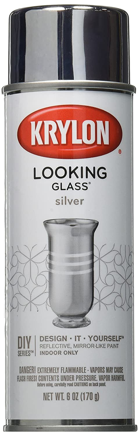 krylon looking glass silver like aerosol spray paint 6 oz