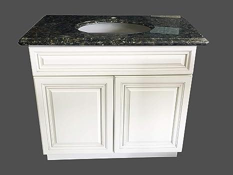 New Antique White Single Sink Bathroom Vanity Base Cabinet