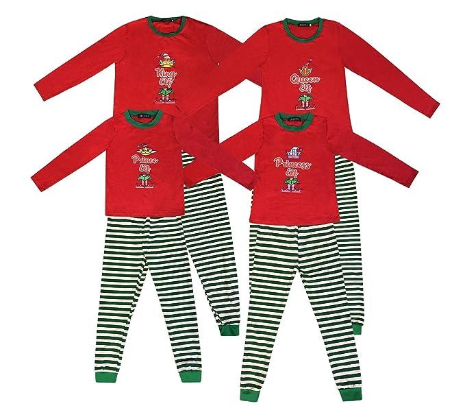 Pijamas a Juego con la Familia Pijamas de Duende navideño ...
