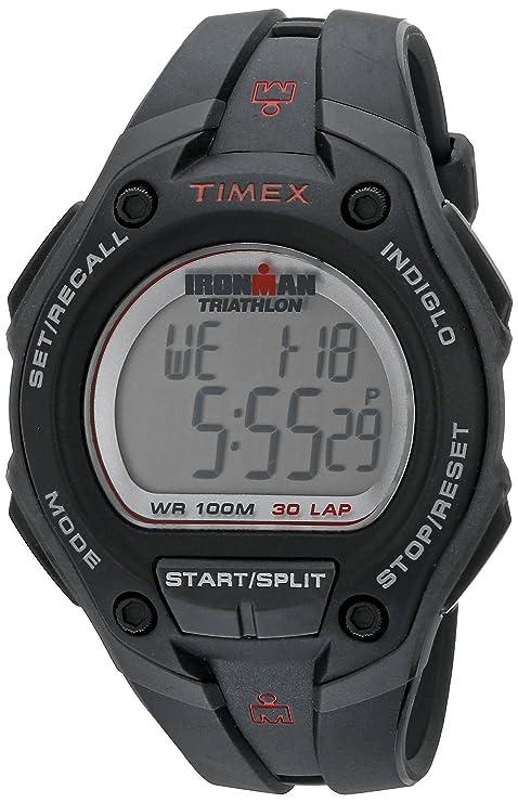 Timex T5K413 - Reloj digital de cuarzo para hombre con correa de nylon, color negro: Timex: Amazon.es: Relojes