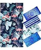 "Microfiber Beach Towel Oversize Clearance, Extra Large 74""x36"", Flamingo Tropical Hawaiian Fast Quick Dry,Cool Travel…"