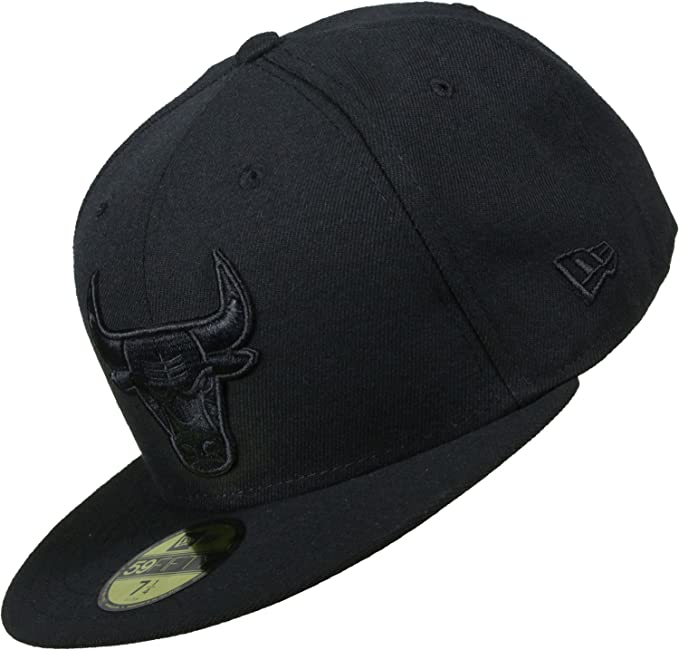 New Era Mujeres Gorras / Gorra plana NBA Black On Black Chicago ...