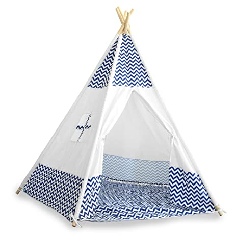 Kids Teepee Tent - Childrens Indian Tipi Tent for Indoor u0026 Outdoor Play - Striped  sc 1 st  Amazon.com & Amazon.com: Kids Teepee Tent - Childrens Indian Tipi Tent for ...
